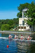 Henley on Thames, England, United Kingdom,  Saturday,  22.06.19,  Tideway Scullers School, Junior 4X,  Henley Women's Regatta, Henley Reach,  Karon PHILLIPS/Intersport Images,<br /> , <br /> 08:56:57