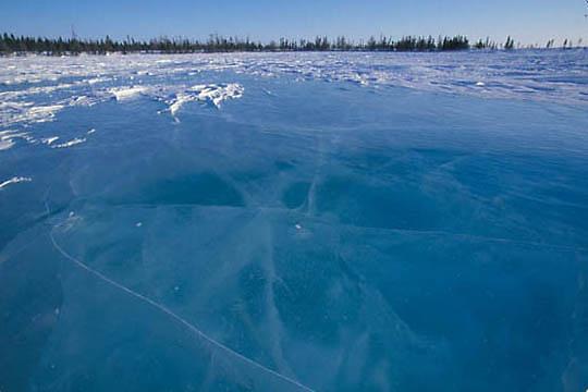 Wapusk National Park. Frozen ice. Northern Manitoba. Canada.