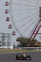 Pastor Maldonado (VEN) Lotus F1 E21.<br /> Japanese Grand Prix, Friday 3rd October 2014. Suzuka, Japan.