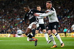 Ryan Sessegnon of Fulham takes on Richard Keogh of Derby County - Mandatory by-line: Robbie Stephenson/JMP - 11/05/2018 - FOOTBALL - Pride Park Stadium - Derby, England - Derby County v Fulham - Sky Bet Championship