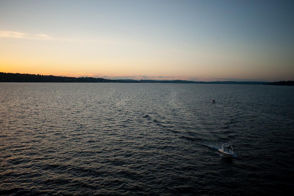 Sunset near Seattle, Washington.