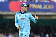 Jason Roy of England gives a thumbs up during the ICC Cricket World Cup 2019 Final match between New Zealand and England at Lord's Cricket Ground, St John's Wood, United Kingdom on 14 July 2019.