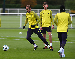 October 31, 2017 - Enfield, England, United Kingdom - Tottenham Hotspur's Harry Kane..during a Tottenham Hotspur training session ahead of the UEFA Champions League Group H match against Real Madrid  at Tottenham Hotspur Training centre on 31 Oct , 2017 in Enfield, England. (Credit Image: © Kieran Galvin/NurPhoto via ZUMA Press)
