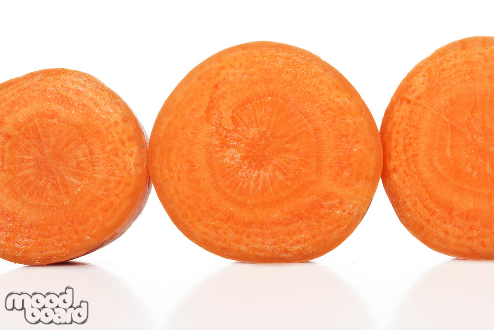 Close up of cuto out carrot
