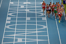 Athletes during the Mens 1500m Heats  during day two of the 20th European Athletics Championships at the Olympic Stadium on July 28, 2010 in Barcelona, Spain. (Photo by Vid Ponikvar / Sportida)