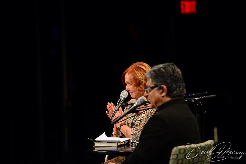 Music Hall ED Patricia Lynch interviews Dr. Deepak Chopra in a Writers on a New England stage presentation.