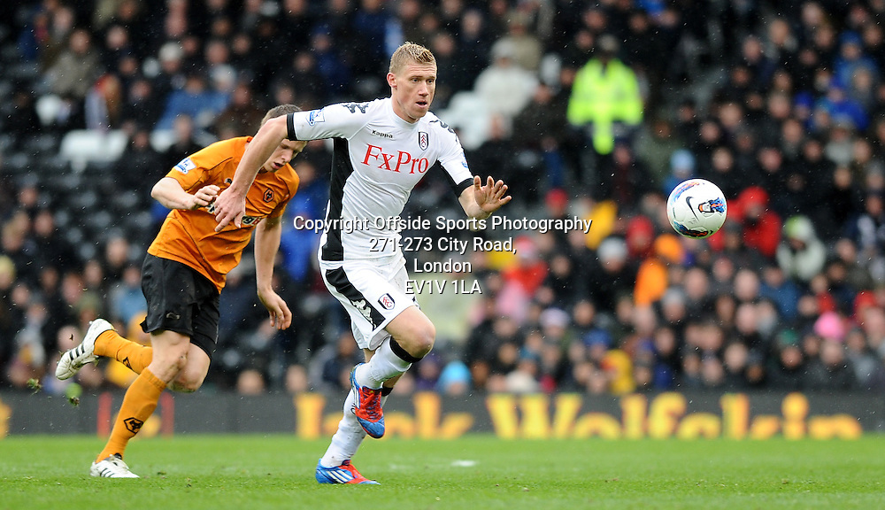 04/03/2012 - Barclays Premier League Football - 2011-2012 - Fulham v Wolverhampton Wanderers - Fulham's Pavel Pogrebnyak. - Photo: Charlie Crowhurst / Offside.