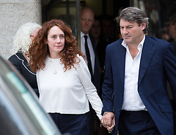 Image ©Licensed to i-Images Picture Agency. 24/06/2014. London, United Kingdom. Hacking trial: Ex-News International chief executive Rebekah Brooks and Charlie Brooks leaving Old Bailey after been cleared of all charges in the phone-hacking trial. Old Bailey. Picture by Daniel Leal-Olivas / i-Images