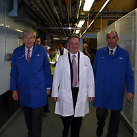FREE TO USE PIC....<br />First Minister Jack McConnell who officially opened the new £3m bottling line at The Edrington Groups HQ in Glasgow..He is pictured with Ian Good, Chairman of The Edrington Group (left and Ian Curle Chief Exec of The Edrington Group.<br />See press release from Edrington Group: Contact Sharon McLaughlin on 07879 694962<br />Copyright Perthshire Picture Agency<br />Tel: 01738 623350  Mobile: 07990 594431