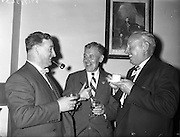 28/09/1960<br /> 09/28/1960<br /> 28 September 1960<br /> Luncheon at Gilbey's Wine Merchants, Nos. 46-49 O'Connell St., Dublin.<br /> (l-r); Mr J. Kilgour; Mr. D. Fitzpatrick and Mr W.C. Burnett.