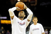 Apr 27, 2010; Cleveland, OH, USA; Cleveland Cavaliers guard Mo Williams (2) shoots prior to game five against the Chicago Bulls in the first round of the 2010 NBA playoffs at Quicken Loans Arena.  Mandatory Credit: Jason Miller-US PRESSWIRE