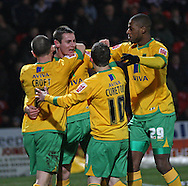Doncaster - Friday January 30th 2009: Jonathan Grounds of Norwich City Celebrates scoring a goal with his team mates during the Coca Cola Championship Match at The Keepmoat Stadium Doncaster. (Pic by Steven Price/Focus Images)