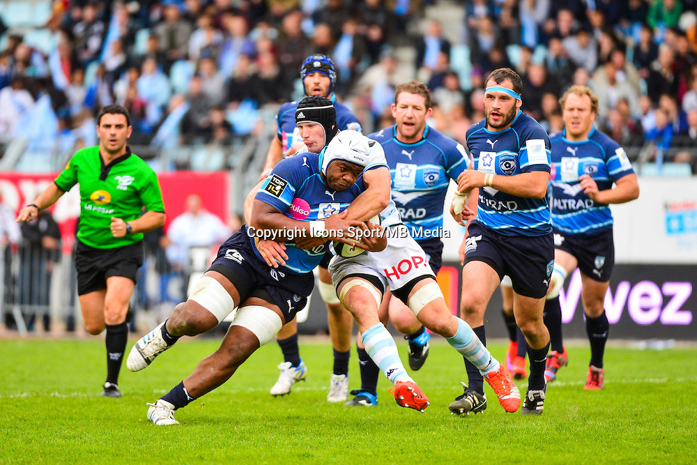 Robins TCHALE WATCHOU / Wenceslas LAURET  - 11.04.2015 - Racing Metro / Montpellier  - 22eme journee de Top 14 <br />