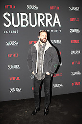Alessandro Borghi at the Red Carpet of the series Suburra 2 at Circolo Degli Illuminati in Rome, Italy, 20 February 2019 .Dress: Gucci  (Credit Image: © Lucia Casone/Soevermedia via ZUMA Press)