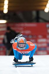 03.12.2011, Eiskanal, Igls, AUT, Viessmann FIBT Bob und Skeleton Weltcup, Skeleton Herren, 1. Durchgang, im Bild Anze Setina (SLO) // Anze Setina  of Slovenia during first run men's Skeleton at FIBT Viessmann Bobsleigh and Skeleton World Cup at Olympic ice canal, Innsbruck Igls, Austria on 2011/12/03. EXPA Pictures © 2011, PhotoCredit: EXPA/ Johann Groder