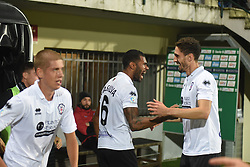 November 3, 2018 - Vercelli, Italy - Brasilian midfielder Gladestony Da Silva from Pro Vercelli after score a goal during Saturday evening's match against Novara Calcio valid for the 10th day of the Italian Lega Pro championship  (Credit Image: © Andrea Diodato/NurPhoto via ZUMA Press)