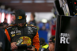 April 27, 2018 - Talladega, Alabama, United States of America - Martin Truex, Jr (78) hangs out in the garage during practice for the GEICO 500 at Talladega Superspeedway in Talladega, Alabama. (Credit Image: © Justin R. Noe Asp Inc/ASP via ZUMA Wire)