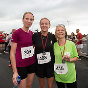 25.08. 2017.                                                      <br /> Almost 200 UL Hospitals Group staff, past and present, and members of the public completed the annual 5k Charity Run/Walk on Friday August 25th in Limerick.<br /> <br /> Pictured after completing the run were UHL staff, Edel Hennessy, UHL, Helen Hartigan, Croom and Mary Mannion, Ennis.<br /> <br /> <br /> Everybody who participated also raised funds for Friends of Ghana, an NGO formed last year by UL Hospitals Group and its academic partner the University of Limerick to deliver medical training programmes in the remote Upper West Region of Ghana. Picture: Alan Place