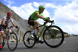 Andrew Talansky (USA) Cannondale Drapac and Bauke Mollema (NED) Trek-Segafredo climb through the Caisse Deserte on Col d'Izoard during Stage 18 of the 104th edition of the Tour de France 2017, running 179.5km from Briancon to the summit of Col d'Izoard, France. 20th July 2017.<br /> Picture: Eoin Clarke | Cyclefile<br /> <br /> All photos usage must carry mandatory copyright credit (© Cyclefile | Eoin Clarke)