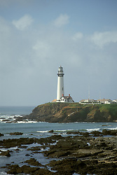 CA: Pigeon Point, California, lighthouse 2005 .Image: capigeon105..Photo Copyright: Lee Foster, lee@fostertravel.com, www.fostertravel.com, (510) 549-2202.