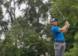 June 1, 2018 - Dublin, Ohio, U.S. - RORY MCILROY tees off during the second round of the Memorial Tournament at Muirfield Village Golf Club in Dublin. (Credit Image: © Jason Mowry/Icon SMI via ZUMA Press)