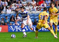 Photo: Leigh Quinnell.<br /> Queens Park Rangers v Southampton. Coca Cola Championship. 01/09/2007. QPRs Adam Bolder gets past Southamptons Youssef Safri.