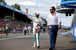 September 1, 2018 - Monza, Italy - Motorsports: FIA Formula One World Championship 2018, Grand Prix of Italy, ..#44 Lewis Hamilton (GBR, Mercedes AMG Petronas Motorsport) (Credit Image: © Hoch Zwei via ZUMA Wire)