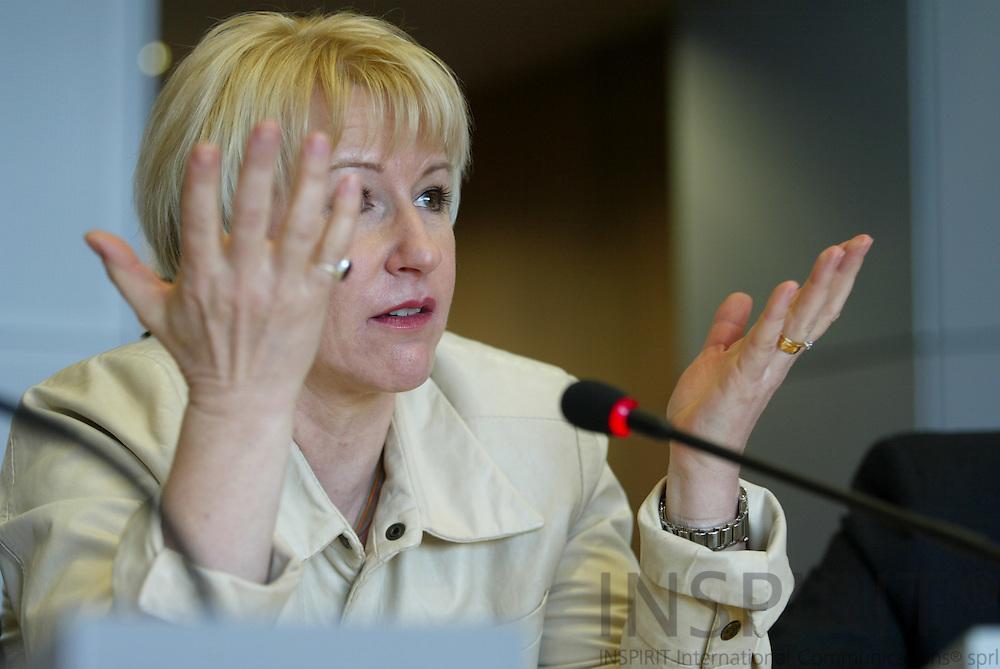 BRUSSELS - BELGIUM - 11 APRIL 2005 --Margot WALLSTRÖM (Wallstrom, Wallstroem) Vice President and EU Commissioner.-- PHOTO: ERIK LUNTANG / INSPIRIT
