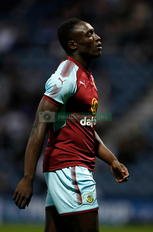 "Burnley's Dan Agyei during the pre-season friendly match at Deepdale, Preston. PRESS ASSOCIATION Photo. Picture date: Tuesday July 25, 2017. See PA story SOCCER Preston. Photo credit should read: Martin Rickett/PA Wire. RESTRICTIONS: EDITORIAL USE ONLY No use with unauthorised audio, video, data, fixture lists, club/league logos or ""live"" services. Online in-match use limited to 75 images, no video emulation. No use in betting, games or single club/league/player publications."