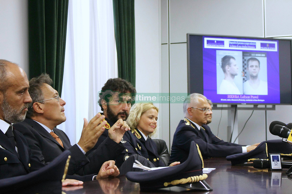 Italy, Milan - August 5, 2017.Police operation against human trafficker.Lukasz Pawel Herba arrested after kidnapping a young British woman he planned to auction on an online slavery market..Police press conference in Milan / Paolo Storari and Lorenzo Bucossi (Credit Image: © Cattaneo/Fotogramma/Ropi via ZUMA Press)