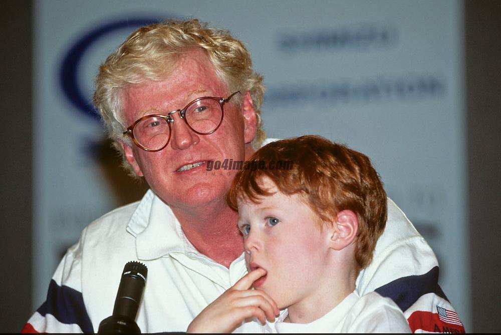 Bill Koch and Wyatt<br /> AMERICA3, winner America's Cup 1992<br /> San Diego<br /> &copy; Daniel Forster