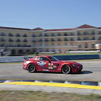 March 15, 2018 - Sebring, Florida, USA:  The Ramsey Racing Mercedes-AMG races through the turns at the Alan Jay Automotive Network 120 at Sebring International Raceway in Sebring, Florida.