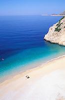 Turquie. Lycie. Plage de Kaputas. // Kaputas beach, Lycie province, Turkey