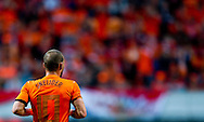 NETHERLANDS, Amsterdam In action Wesley Sneijder leaves the pitch,  Northern Irland during friendly soccer match between Netherlands vs Northern Irland in Rotterdam on June 2, 2012. AFP PHOTO/ ROBIN UTRECHT