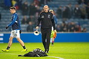 Rangers assistant manager Gary McAllister takes the warm up before the Ladbrokes Scottish Premiership match between Rangers and Aberdeen at Ibrox, Glasgow, Scotland on 5 December 2018.