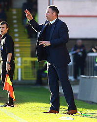 Peterborough United Manager, Darren Ferguson issues instructions from the touchline - Photo mandatory by-line: Joe Dent/JMP - Tel: Mobile: 07966 386802 11/01/2014 - SPORT - FOOTBALL - County Ground - Swindon - Swindon Town v Peterborough United - Sky Bet League One