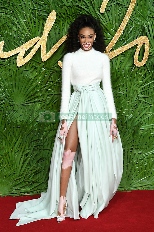 Winnie Harlow attending the Fashion Awards 2017, in partnership with Swarovski, held at the Royal Albert Hall, London. Picture Credit Should Read: Doug Peters/ EMPICS Entertainment