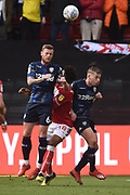 Leeds United defender Liam Cooper (6) wins header during the EFL Sky Bet Championship match between Bristol City and Leeds United at Ashton Gate, Bristol, England on 9 March 2019.