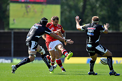 Olly Barkley (London Welsh) kicks for territory - Photo mandatory by-line: Patrick Khachfe/JMP - Mobile: 07966 386802 06/09/2014 - SPORT - RUGBY UNION - Oxford - Kassam Stadium - London Welsh v Exeter Chiefs - Aviva Premiership