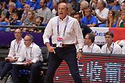 Ettore Messina<br /> Nazionale Italiana Maschile Senior<br /> Eurobasket 2017 - Group Phase<br /> Italy Italia Germany Germania<br /> FIP 2017<br /> Tel Aviv, 05/09/2017<br /> Foto Ciamillo - Castoria/ Ivan Mancini