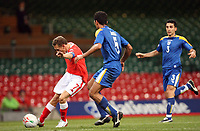 Photo: Rich Eaton.<br /> <br /> Wales v Cyprus. UEFA European Championships 2008 Qualifying. 11/10/2006. Craig Bellamy, left captain of Wales chips the goalkeeper for his goal inthe second half