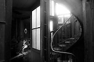 France. Paris. 8th district. stairs in Saint Augusrtin church