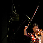 May 14, 2011 - Manhattan, NY : .The Damocles Trio, comprised of Airi Toshioka (violin), Sibylle Johner (cello - not pictured) and Adam Kent (piano - not pictured) perform Heitor Villa-Lobos's 'Trio No. 1' during Symphony Space's Wall to Wall Sonidos concert on Saturday night. .CREDIT: Karsten Moran for The New York Times