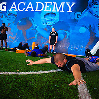 2/18/13 1:37:33 PM -- Bradenton, FL, U.S.A. -- NFL prospect and former FSU defensive end Björn Werner works out at IMG Academy in Bradenton, Fla., in preparation for this year's NFL Combine.  -- ...Photo by Chip J Litherland, Freelance