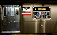 UNITED STATES-NEW YORK-Subway, train  PHOTO: GERRIT DE HEUS.VERENIGDE STATEN-NEW YORK. Metro. PHOTO COPYRIGHT GERRIT DE HEUS