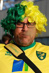 A Norwich City supporter - Mandatory by-line: Phil Chaplin/JMP - 27/10/2019 - FOOTBALL - Carrow Road - Norwich, England - Norwich City v Manchester United - Premier League