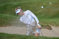 August 23, 2018 - Regina, SK, U.S. - REGINA, SK - AUGUST 23: Nelly Korda (USA) hits from the trap on 4 during the CP Women's Open Round 1 at Wascana Country Club on August 23, 2018 in Regina, SK, Canada. (Photo by Ken Murray/Icon Sportswire) (Credit Image: © Ken Murray/Icon SMI via ZUMA Press)