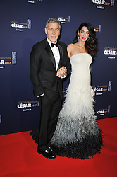 George Clooney and wife Amal during the 42nd Annual Cesar Film Awards ceremony held at the Salle Pleyel in Paris, France on February 24, 2017. Photo by Alban Wyters/ABACAPRESS.COM