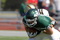 09 September 2017:  Zach Walsh, Heath Hovendick during an NCAA division 3 football game between the Nebraska Wesleyan PRAIRIE WOLVES and the Illinois Wesleyan Titans in Tucci Stadium on Wilder Field, Bloomington IL