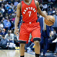 18 November 2016: Toronto Raptors guard Kyle Lowry (7) brings the ball up court during the Toronto Raptors 113-111 OT victory over the Denver Nuggets, at the Pepsi Center, Denver, Colorado, USA.